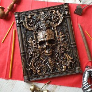 Panel Skull wood carving, wall art, picture, wall hangings