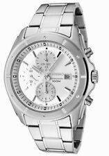 SEIKO SNDB61 SNDB61P1 Mens Chronograph Silver Dial 100m Steel Quartz Watch