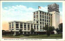 Salina KS Weber Flour Mills c1920 Postcard