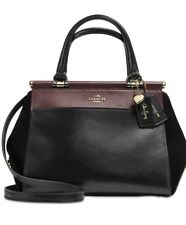 COACH Selena Gomez Grace Black/Cherry 24109 Bag In Colorblock Mixed Leathers