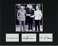 CHURCHILL TRUMAN STALIN 8 by 10  REPRINT PHOTO & REPRINT  AUTOGRAPH PHOTO PAPER