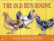 Old Hen House metal advertising sign 15x20cm rare breed poultry wall plaque