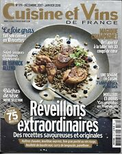 CUISINE&VINS n°179 déc.2017-janvier 2018 Réveillons extraordinaires: 75 recettes