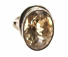 Citrine Ring Citrine Jewelry Gemstone Jewellery Citrine Ring 925 Silver Size P