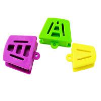3PCS/1set Silicone Latex Mouth Prop Bite Blocks Three Color Purple Green Yellow