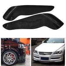 Universal Winglet Type Car Front Bumper Lip Splitter Diffuser Carbon Fiber Style