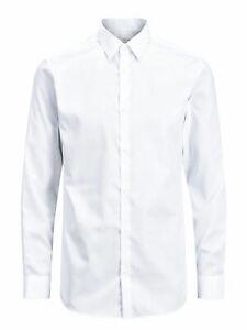 Jack & Jones - Camicia Uomo Bianco Slim Fit