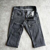 Mens LEVIS 510 Jeans Grey Skinny fit Slim Stretch Designer size Waist 31 Leg 30
