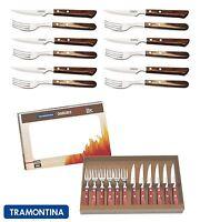 Tramontina Churrasco Premium Wood Steak Knife Knives Fork Set of 12, 2 Colours