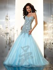 Panoply 14645 Baby Blue Mermaid Pageant Gown Dress sz 12 FLASH SALE NWT