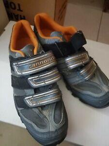 Cannondale Gray & Orange Mountain Kids Biking Shoes Size 7.5