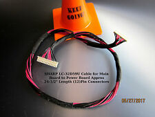 "SHARP LC-32D59U Cable for Main Board to Power Board Approx 24-1/2"" Len (12)Pin"