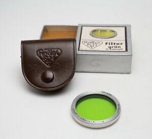 EX! Rollei Green Filter Rolleiflex/Rolleicord/Yashica Bay 1 w/Case/Box B30 28.5