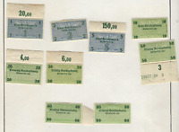 Germany WWII 3rd Reich Bill Exchange Fiscal Tax Revenue Stamps Set of 9 MLH