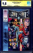 Deathmate Prologue #1 CGC SS 9.8 signed by Bob Layton VALIANT IMAGE JIM LEE ART