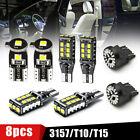 8Pcs Car LED Package Kit For License Plate Lamp Reverse Backup Brake Lights Bulb Alfa Romeo 156