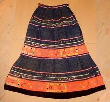 "VINTAGE BEAUTIFUL MAHARANE MULTICOLOR PRINT BANJARA STYLE GYPSY DRESS ~ 36"" LONG"