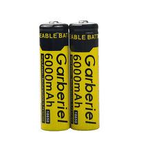 2pcs 6000mAh 18650 Rechargeable Battery 3.7v Li-ion BRC Batteries USA Stock