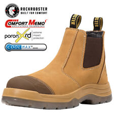 ROCKROOSTER Men's Work Boots Water resistant Steel Toe Anti-static Safety Bootie