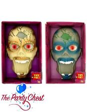 HALLOWEEN SKULL DOOR BELL Spooky Animated Light Sound Party Door Decoration 0495