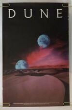 Dune Novel Book Poster Pin-up Space Moon Vintage 1984 Dino De Laurentiis
