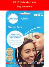 LEBARA Sim Card 10GB Unlimited UK & International Mins (£10 Off Code)