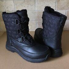 UGG Lachlan Black Waterproof Leather Short Winter Rain Snow Boots Size 9 Womens