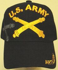 U.S. ARMY ARTILLERY MILITARY FIELD INFANTRY WEAPON ARMS CROSS CANON GUN CAP HAT