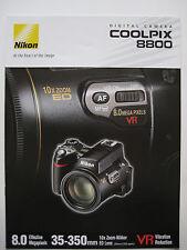 Nikon Coolpix 8800 digital camera sales brochure - 2004 - 25 pages
