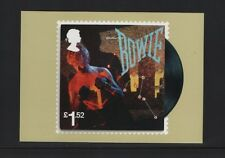DAVID BOWIE OFFICIAL ROYAL MAIL POSTCARD featuring STAMP Let's Dance, 1983
