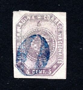 Colombia 1859 stamp Mi#2a used CV=140€