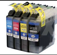 4 Generic LC-233 LC233 Ink Cartridges for Brother MFC-J880DW J5320DW,J5720DW