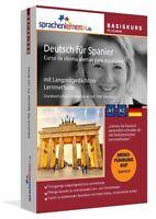 Deutsch lernen für Spanier, Spanisch - Deutsch PC Basiskurs Online Lernprogramm