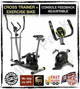 Opti Magnetic 2 in 1 Cross Trainer and Exercise Bike FAST DISPATCH! 🌏 🇬🇧 🇮🇪