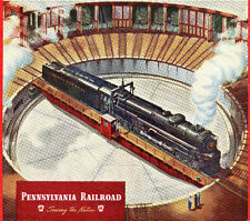 1945 Ad~PENNSYLVANIA RAILROAD~ Locomotive Roundhouse ~Something New on the Table