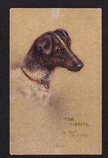 c1910 Tuck artist signed Maud Watson Fox Terrier Dog postcard