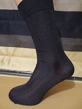 BLACK  patterned nylon socks. Mid calf length. UK size 6-10.