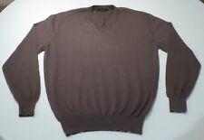 Ermenegildo Zegna Cashmere Brown V-neck Sweater Medium/Eur 50/UK 40