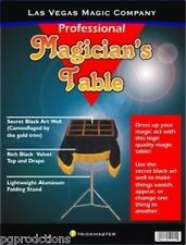 Black Art MAGICIANS MAGIC TRICK TABLE Velvet Top Base Folding Stand Stage Prop