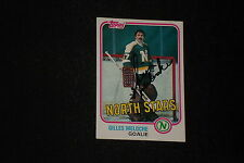 GILLES MELOCHE 1981-82 TOPPS SIGNED AUTOGRAPHED CARD #109 NORTH STARS