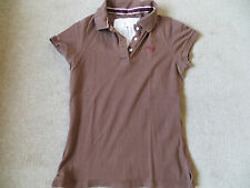 Abercrombie & Fitch brown polo shirt large vintage