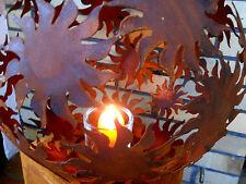 Metall Kugel Sonne D.40 Deko-Kugel Skulpturen Rost Garten Figuren Edelrost