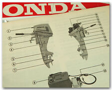 HONDA B75 B75K3 LD SD OUTBOARD MOTOR OWNERS MANUAL ENGLISH FRENCH GERMAN 64 PAGE