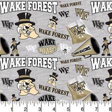 Wake Forest University Fat Quarter-NCAA Collegiate Cotton Fabric-WF1164