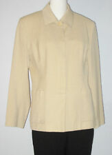 BRAEMAR Size 12 Beige Button Up Fully Lined Blazer (Made in Canada)