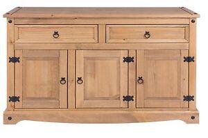 Corona 3 Door 2 Drawer Sideboard Solid Medium Wood Mexican Pine