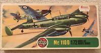 Vintage 1975  Airfix Me 110D - Scale 1/72 - Model Air Craft Kit -