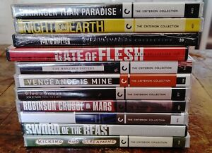Criterion Collection Assorted DVD Lot (11) Titles NEW STILL SEALED