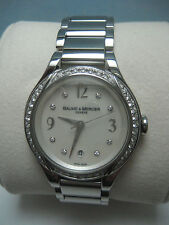 "BAUME MERCIER S/S ILEA DIAMONDS .62CTW WATCH ""MINT"""