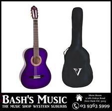 Valencia 3/4 Size Guitar and Bag Pack Beginners Guitar Purple NEW